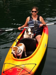 Paddling with pups!